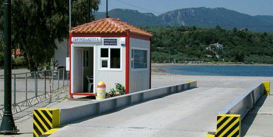 ηλεκτρονική γεφυροπλάστιγγα υπέργεια μικτού τύπου, χωρίς θεμελείωση με 8 δυναμοκυψέλες, από την εταιρία συστημάτων ζύγισης ΑΛΕΞΙΟΥ ΑΒΕΕ, Αθήνα