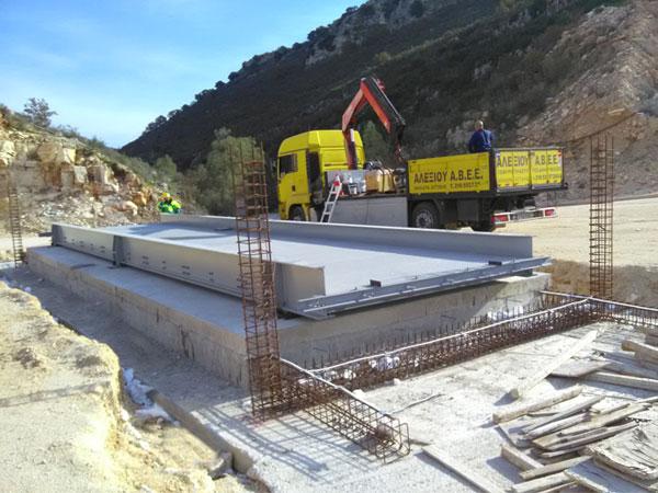 εγκατάσταση ηλεκτρονικής γεφυροπλάστιγγας επιφανείας μικτού τύπου με 8 δυναμοκυψέλες από την ΑΛΕΞΙΟΥ ΑΒΕΕ, γεφυροπλάστιγγες Αθήνα