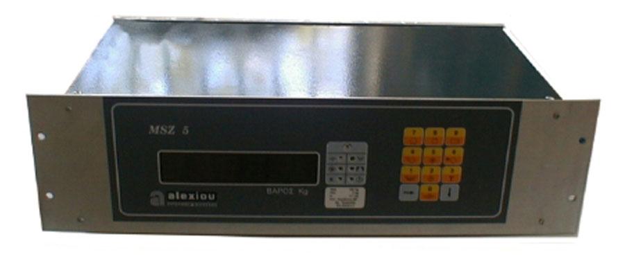 Ηλεκτρονικό Ζυγιστήριο τύπου MSZ 5 με Εισόδους/Εξόδους της εταιρίας Αλεξίου ΑΕ-ζυγιστικές μηχανές