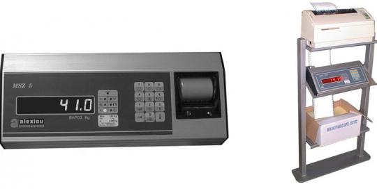 Ηλεκτρονικό Ζυγιστήριο τύπου MSZ 5 με Σειριακή/Παράλληλη Επικοινωνία της εταιρίας Αλεξίου ΑΕ ζυγιστικές μηχανές