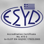 Accreditation Certificate No.473-2 to ELOT EN ISO/IEC 17025;2005