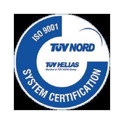 Πιστοποίηση της ΑΛΕΞΙΟΥ ΑΒΕΕ σύμφωνα με το πρότυπο ISO 9001:1995, για το σύστημα διασφάλισης ποιότητας που ακολουθεί από τον φορέα TUV HELLAS, σχετικά με την κατασκευή και τεχνική υποστήριξη ζυγιστικών μηχανών